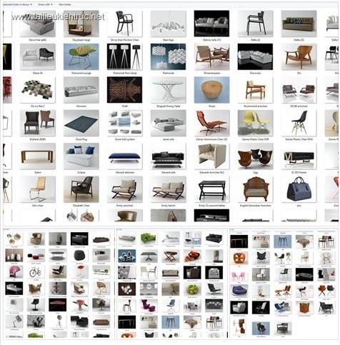 Tổng hợp 400 Model 3D về đồ đạc nội thất Full Vol 2