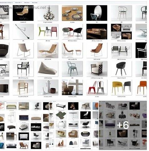 Tổng hợp 258 Model 3D về đồ đạc nội thất Full Vol 1