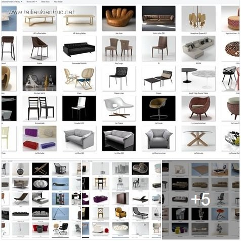 Tổng hợp 253 Model 3D về đồ đạc nội thất Full Vol 3