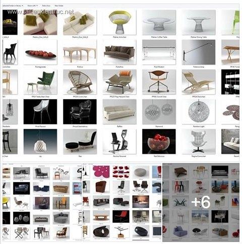 Tổng hợp 259 Model 3D về đồ đạc nội thất Full Vol 4