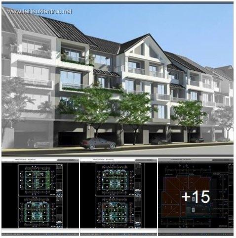 Hồ sơ thiết kế nhà phố liền kề 4 tầng diện tích 4,3x17m 022