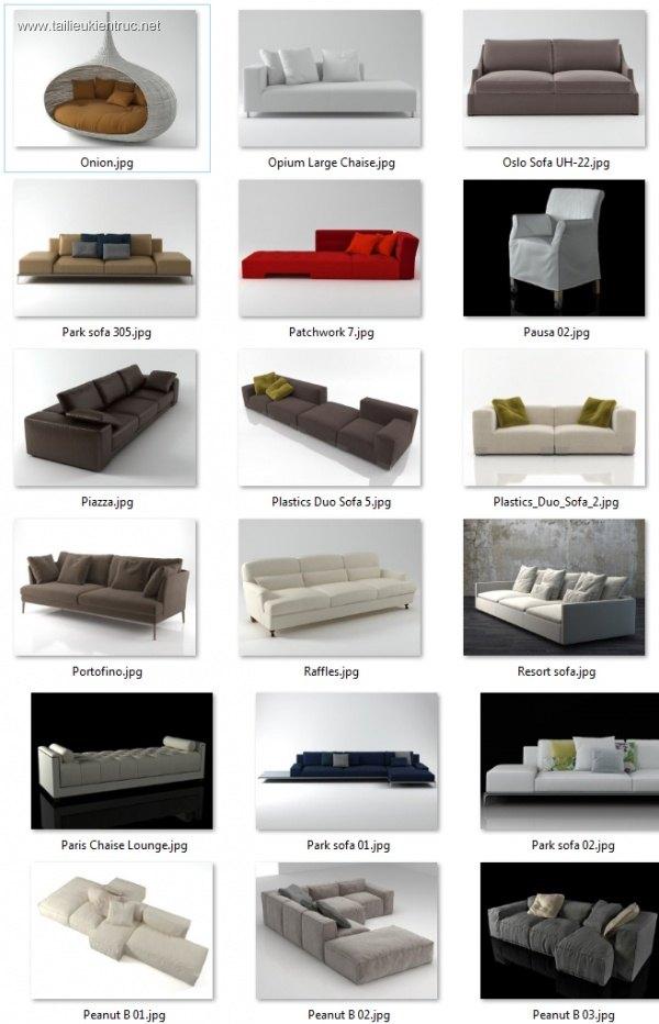 Tổng hợp 36 File 3D model Sofa các loại