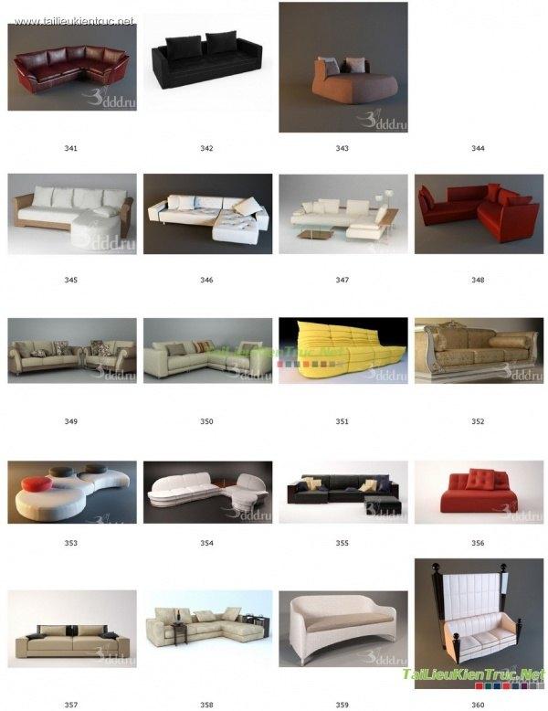Tổng hợp 100 File 3D model Sofa cực đẹp P4