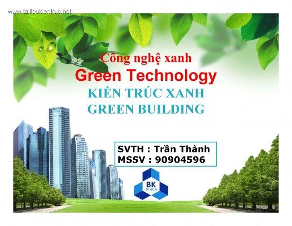 Bài giảng Kiến trúc xanh - Công nghệ xanh