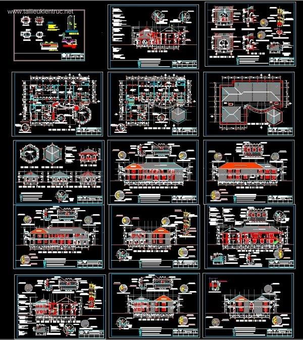 Hồ sơ thiết kế Trường mầm non Thanh Bình 01
