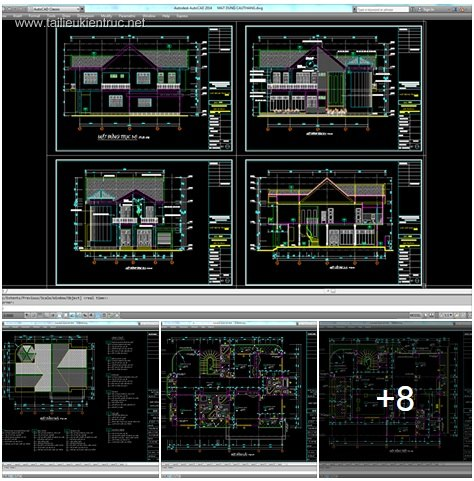 Hồ sơ thiết kế biệt thự 14x18m 2 tầng mái dốc - 0026