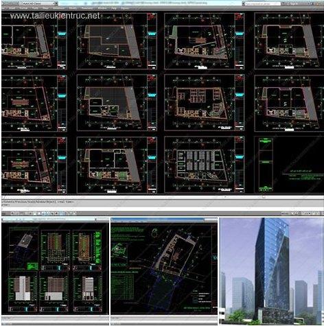 Bản vẽ thiết kế tòa nhà Văn Phòng 12 Tầng
