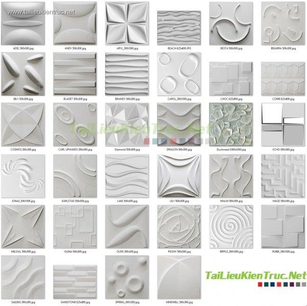 Tổng hợp 40 Model về Tường 3D Wall full Map 02