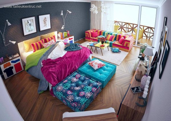 Sence Phòng Ngủ 00011 - Thiết kế phòng ngủ Master Giáng Sinh