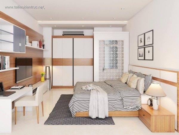 Sence Phòng Ngủ 00012 - Thiết kế phòng ngủ Master Sketchup