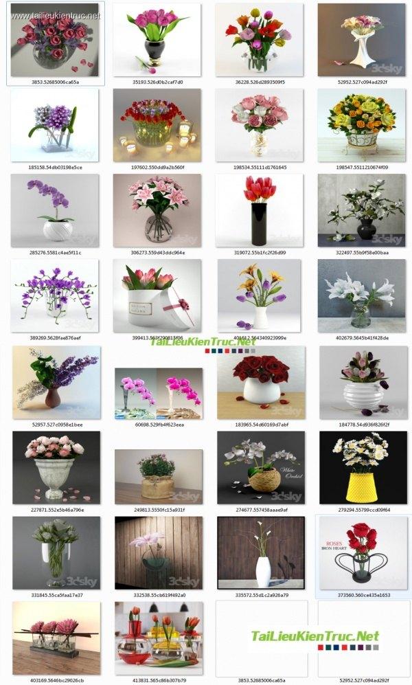 Tổng hợp 20 model lọ hoa đẹp file 3dsmax