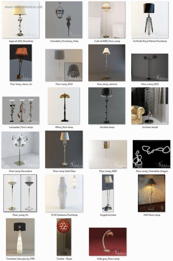Tổng hợp 23  Model 3D đèn Cây tân cổ điển 010