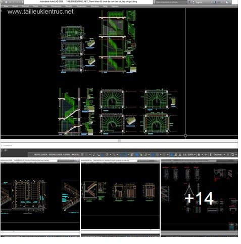 Thư viện chi tiết Autocad 2d Cầu thang các loại Full