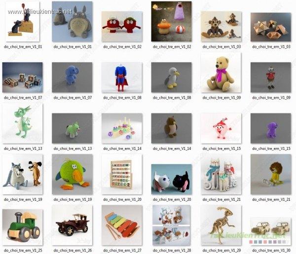 Tổng hợp 60 model 3d kids - Đồ chơi trẻ em full V1