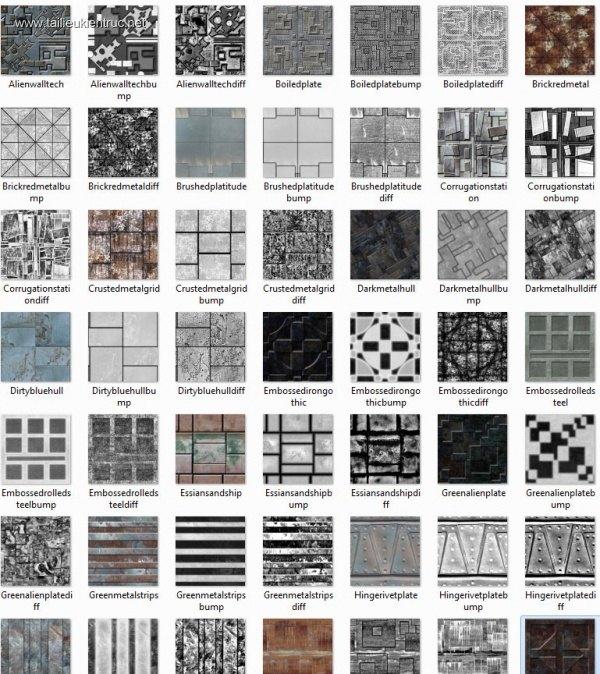 Tổng hợp 90 Map vật liệu Kim loại chất lượng full