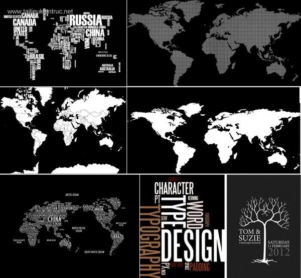 Tổng hợp Map Text Design đẹp chất lượng full