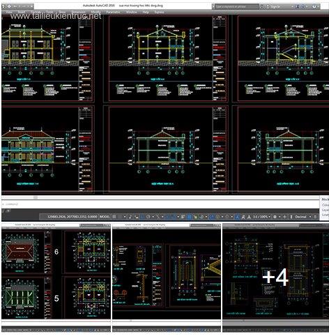 Hồ sơ thiết kế Trường Tiểu học Xã mẫu 01