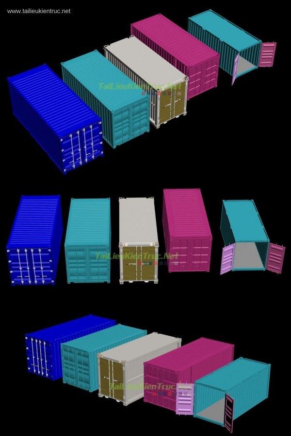 Thư viện 3dsmax gồm 5 File 3d container full