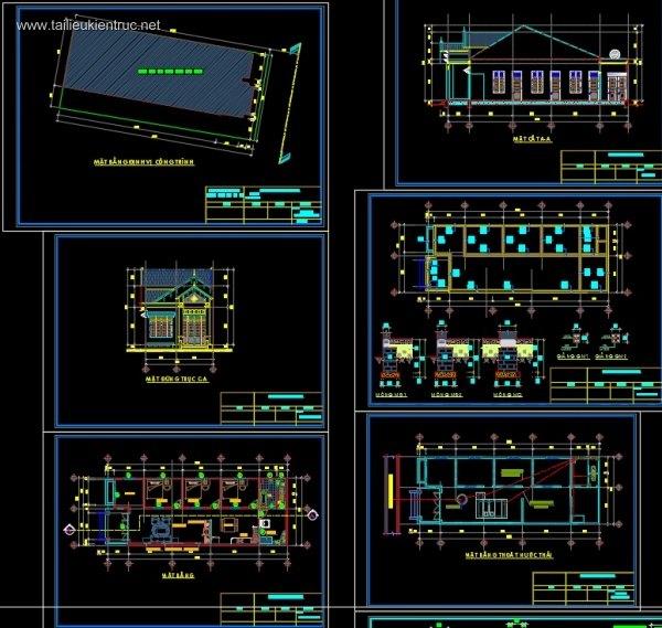 Hồ sơ thiết kế nhà 1 tầng đẹp diện tích 7x19m