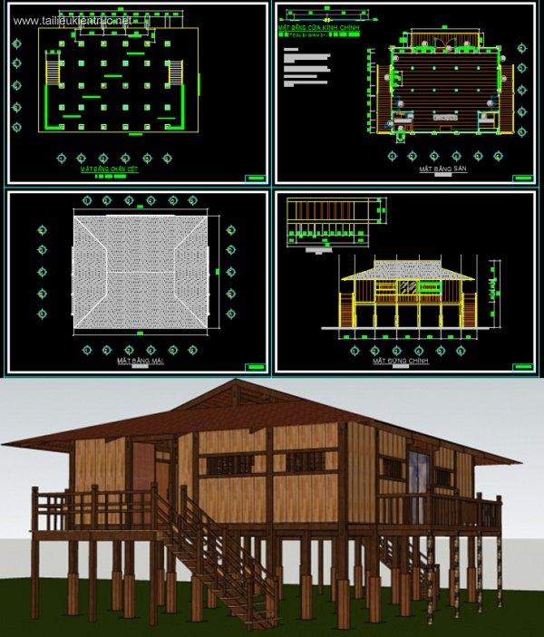 Hồ sơ thiết kế Nhà Sàn người Nùng