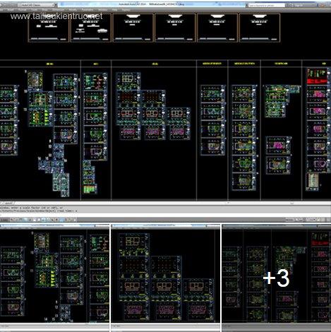 Hồ sơ thiết kế nhà phố 3 tầng diện tích 6x15m 040