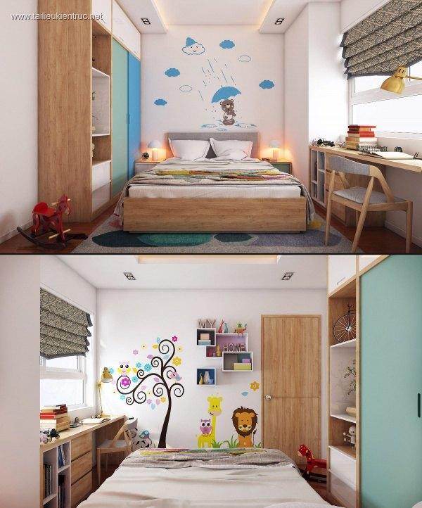 Sence Phòng Ngủ trẻ con 00002 - Thiết kế nội thất phong cách hiện đại