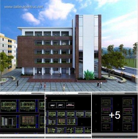 Hồ sơ thiết kế Nhà lớp học của Học viện Quân Y