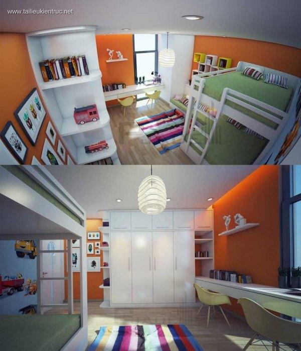 Sence Phòng Ngủ trẻ con 00003 - Thiết kế nội thất phong cách hiện đại