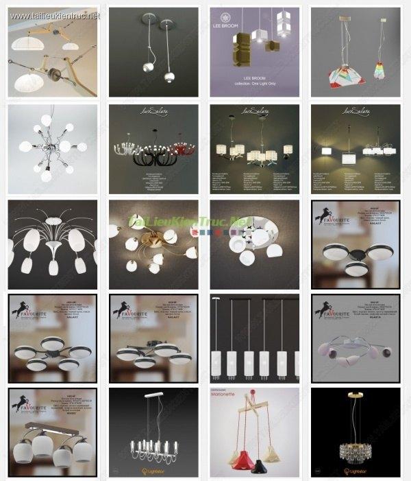 Tổng hợp 40 Model 3D đèn Trần hiện đại 011