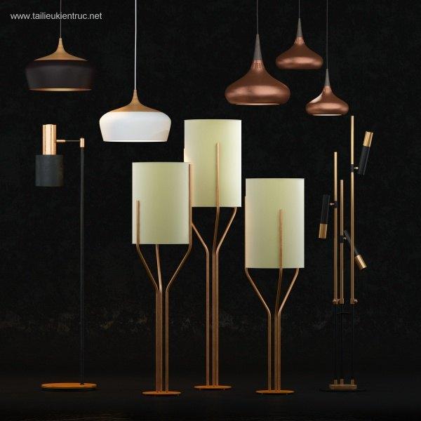 Tổng hợp 5 Model 3D đèn hiện đại 012