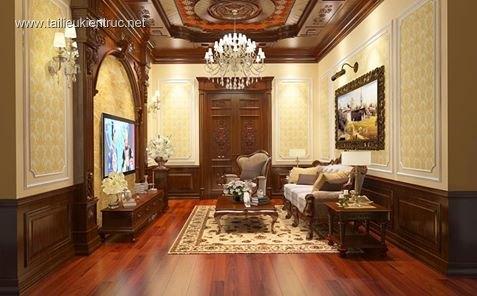 Sence Phòng khách 00012 - Nội thất phong cách tân cổ điển