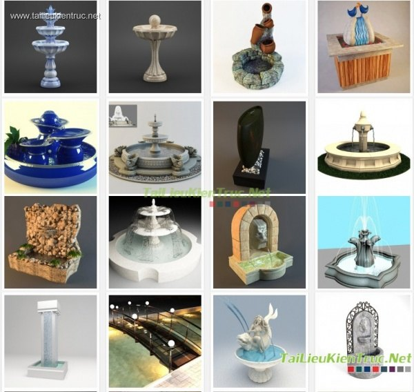 Tổng hợp 42 mẫu 3D Model Đài phun nước đẹp P2