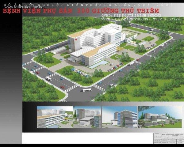 Đồ án tốt nghiệp kiến trúc - Bệnh viện phụ sản 300 giường Thủ Thiêm