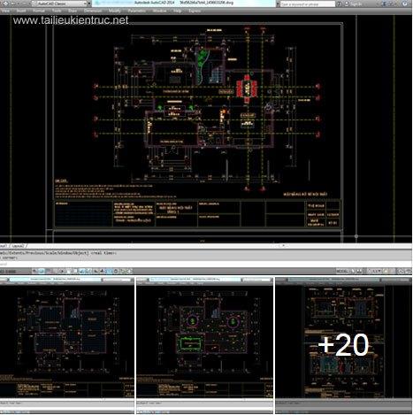 Hồ sơ thiết kế thi công nội thất Biệt thự 3 tầng mẫu 005 Full