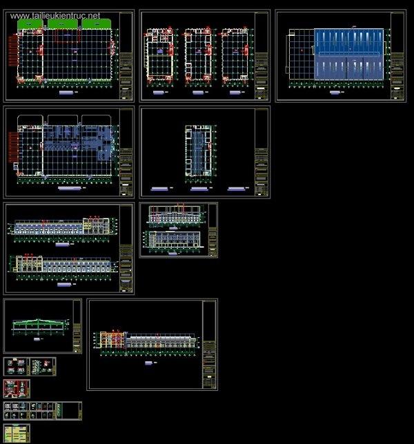 Hồ sơ thiết kế thi công Nhà xưởng MITEC Full