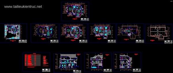 Hồ sơ thiết kế Biệt thự 3 tầng diện tích 13x15m - 0036