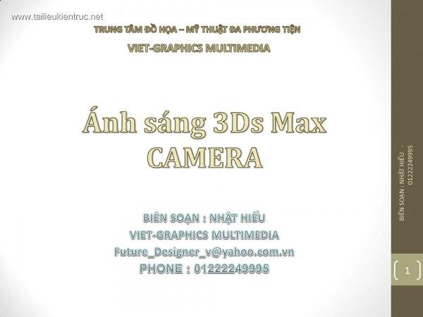 Ánh sáng - Camera trong 3dsmax