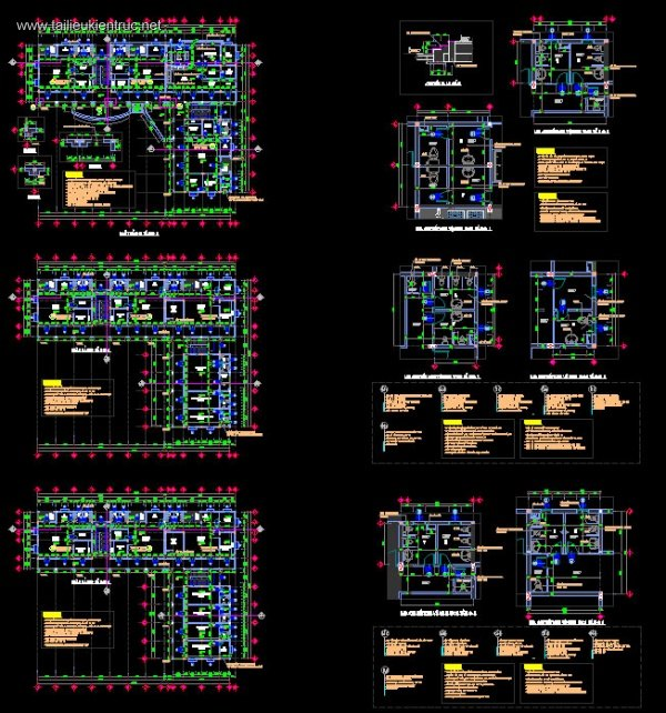 Hồ sơ thiết kế Trường mầm non 3 tầng M03