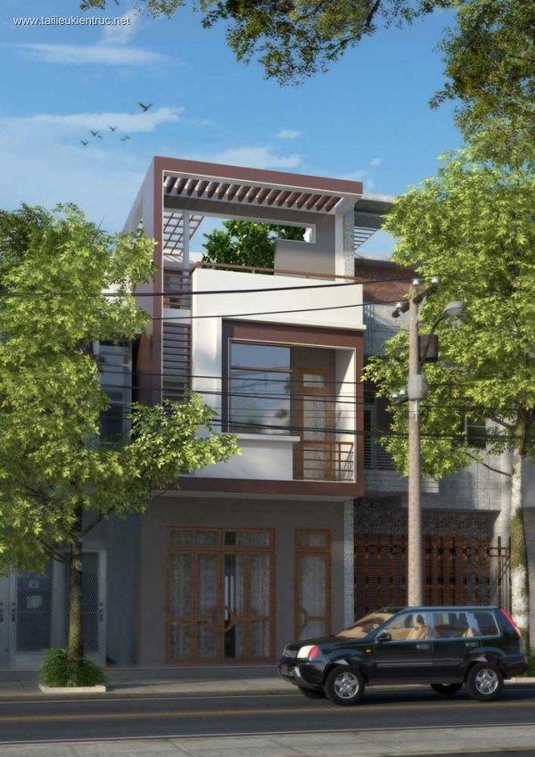 Hồ sơ thiết kế nhà phố 3 tầng diện tích 4,6x17,5m 053