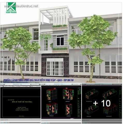 Hồ sơ thiết kế thi công nhà phố 3 tầng diện tích 4,6x11m 054