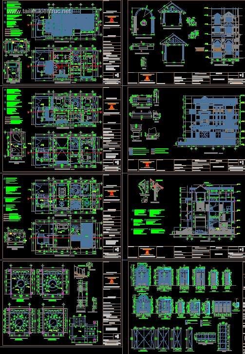 Hồ sơ thiết kế Biệt thự 4 Tầng diện tích 9x20m - 0038