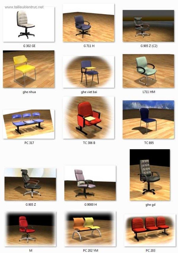 Tổng hợp 15 Model Ghế văn phòng các loại 00015