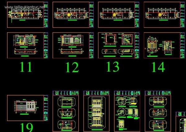 Hồ sơ thiết kế thi công nhà phố 6 tầng diện tích 4x22m 055 full cả dự toán