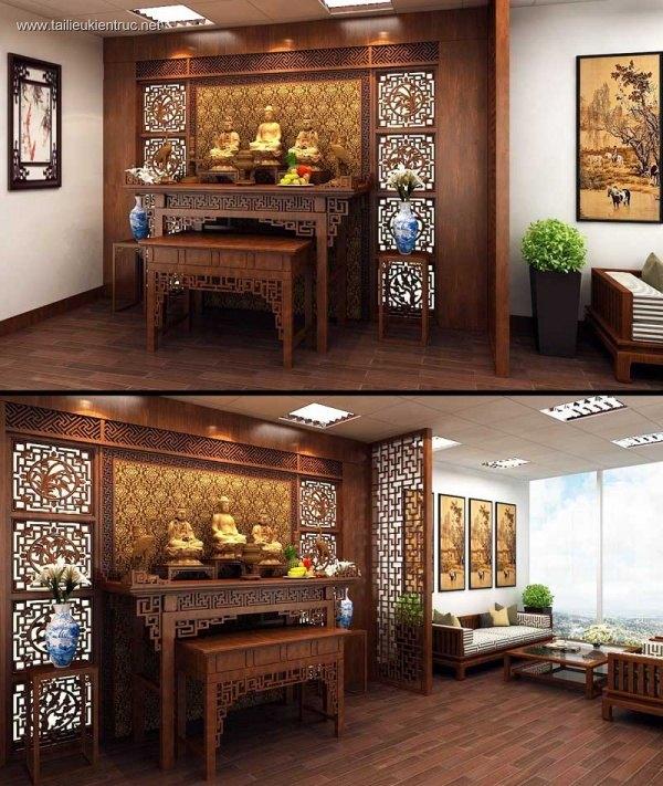 Sence Phòng thờ 011 - Thiết kế nội thất phòng thờ đẹp Full download