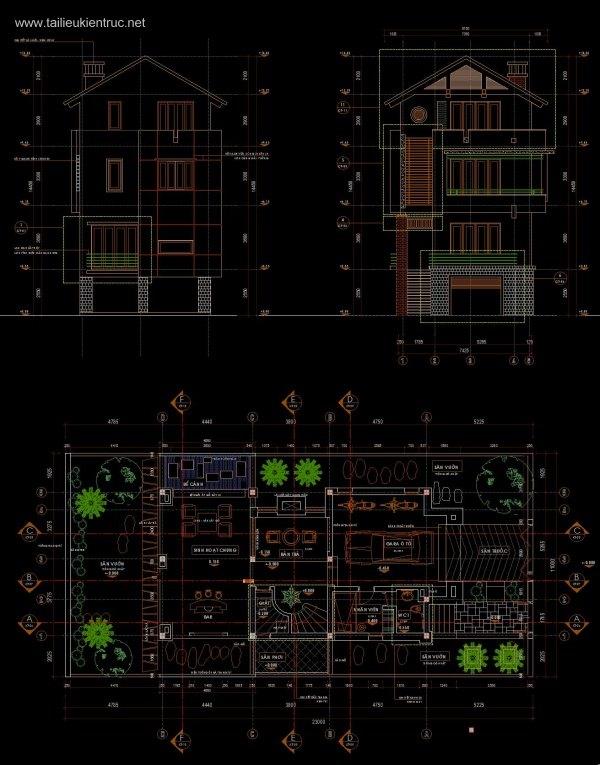 Hồ sơ thiết kế Biệt thự 3 Tầng diện tích 11x23m - 0041