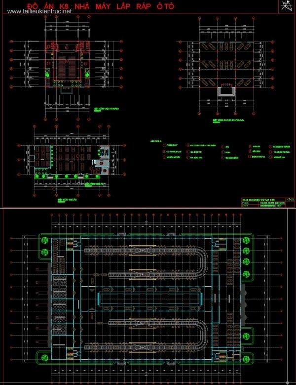 Đồ án kiến trúc K8 - Đồ án Nhà Máy Lắp Ráp Ô Tô