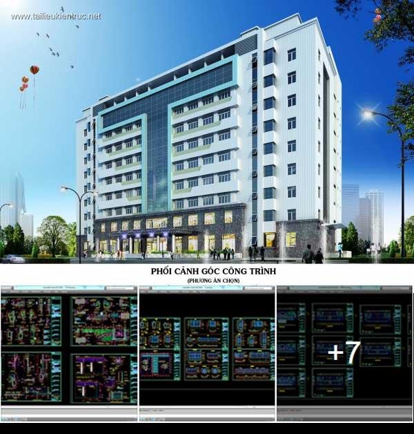 Hồ sơ thiết kế Nhà 9 tầng trường Cao đẳng Truyền Hình mẫu 02