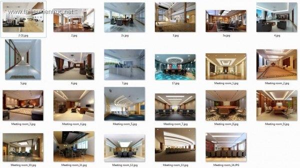 Tổng hợp các Phối cảnh 3d Nội thất OFFICE và MEETING ROOMS
