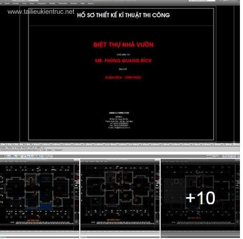 Hồ sơ thiết kế Biệt thự 3 Tầng sang trọng diện tích 11x20m - 0045