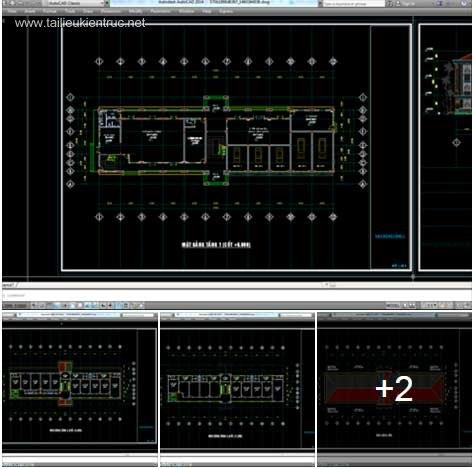Hồ sơ thiết kế trụ sở Công An mẫu 01